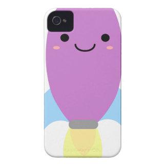 Cute Purple Rocket Ship Case-Mate iPhone 4 Case