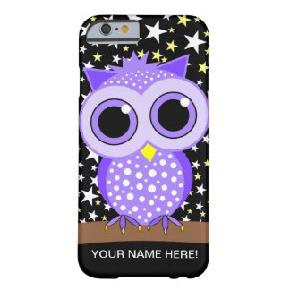 cute purple spotted owl barely there iPhone 6 case