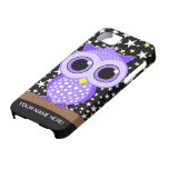 cute purple spotted owl iPhone 5 case