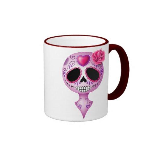 Cute Purple Sugar Skull Mugs