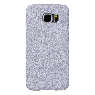 Cute Purple Swirly Pattern Samsung Galaxy Case