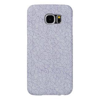 Cute Purple Swirly Pattern Samsung Galaxy Case