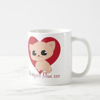 "Cute ""Purrrfect Mum"" Kitten Mug"