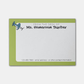Cute Push Pin From the Desk Of Homeroom Teacher Post-it® Notes
