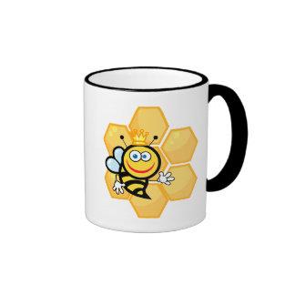 cute queen bee and beehive coffee mug