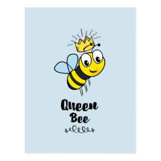 Cute Queen Bee with Crown Postcard