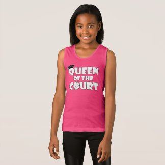 Cute Queen of the Court Girl's Volleyball Tanktop Singlet