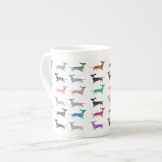 Cute Quirky Dachshund pattern Cup