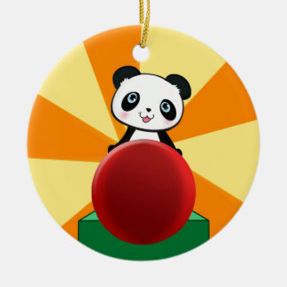 Cute Quirky Panda Bear Gift Present for Fans Girl Round Ceramic Decoration