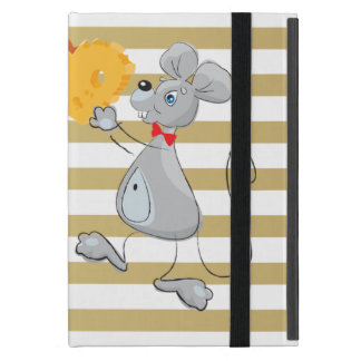 Cute Quirky Whimsical  Mouses-Stripes Case For iPad Mini