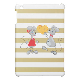 Cute Quirky Whimsical  Mouses-Stripes iPad Mini Cases