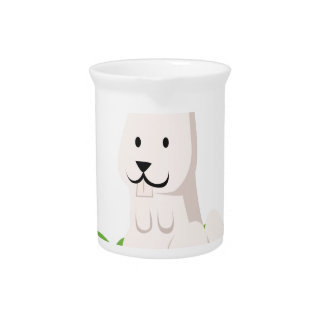 cute rabbit animal pitcher