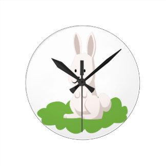 cute rabbit animal round clock