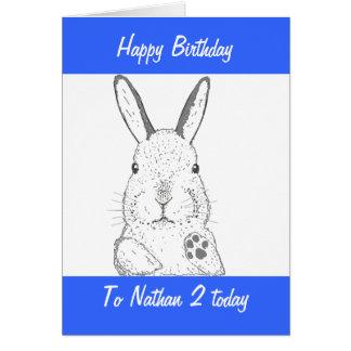 Cute Rabbit Birthday Greeting Card