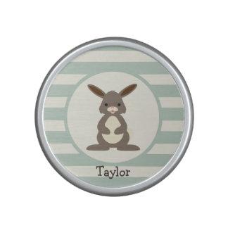Cute Rabbit, Bunny on Light Sage Green Speaker