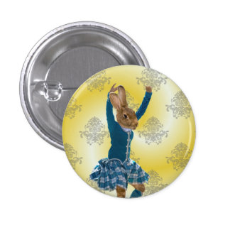 Cute rabbit dancing button
