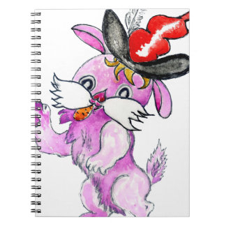 Cute Rabbit Drawing 2 Spiral Notebook