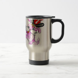 Cute Rabbit Drawing 2 Travel Mug