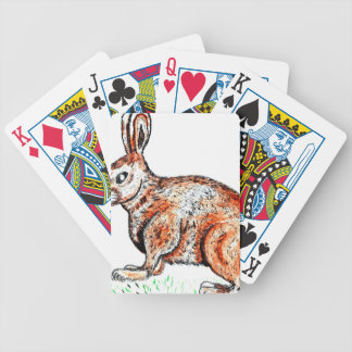 Cute Rabbit Drawing Bicycle Playing Cards
