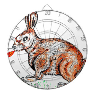 Cute Rabbit Drawing Dartboard