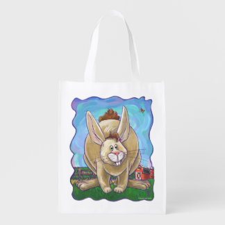Cute Rabbit Heads and Tails Reusable Grocery Bag