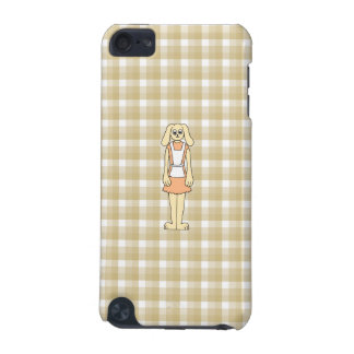 Cute rabbit on a check background. iPod touch 5G cases