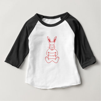 Cute Rabbit with I m So Cute Text Banner Drawing Baby T-Shirt