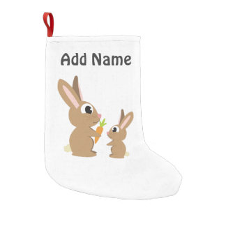 Cute Rabbits Small Christmas Stocking