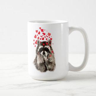 Cute Raccoon Blowing Kisses Animal Nature Art Coffee Mug