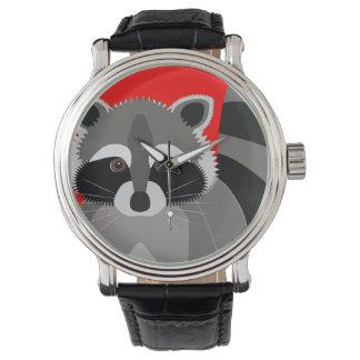 Cute Raccoon Drawing Wrist Watch