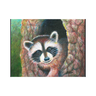 Cute Raccoon Wall Art