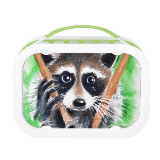 Cute Raccoon Watercolor Art Lunch Box