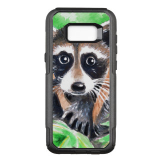 Cute Raccoon Watercolor Art OtterBox Commuter Samsung Galaxy S8+ Case