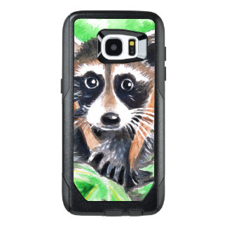 Cute Raccoon Watercolor Art OtterBox Samsung Galaxy S7 Edge Case