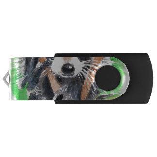 Cute Raccoon Watercolor Art USB Flash Drive