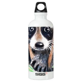 Cute Raccoon Watercolor Art Water Bottle