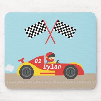 Cute Race Car For Boys Mouse Pad