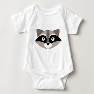 Cute Racoon Face Baby Bodysuit