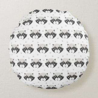 Cute Racoon Pattern Kids or Nursery Pillow