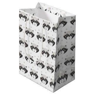 Cute Racoon Pattern Medium Gift Bag