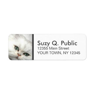 Cute Ragdoll Cat Label Return Address Label