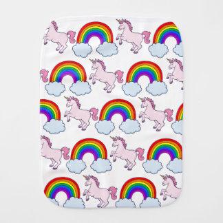 Cute Rainbow and Unicorn Burp Cloth