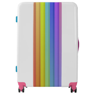 Cute Rainbow Colors Large Sized Luggage Suitcase