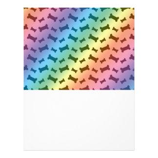 Cute rainbow dog bones pattern personalized flyer