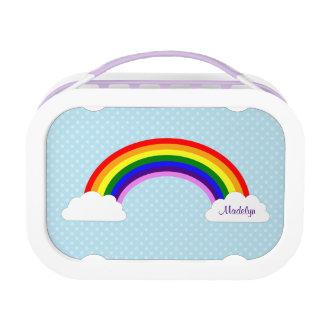 Cute Rainbow Girls Personalized Lunch Box