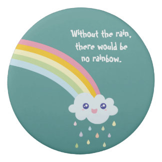 Cute Rainbow Inspirational and Motivational Quote Eraser