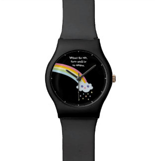 Cute Rainbow Inspirational and Motivational Quote Watch