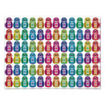 Cute Rainbow Matryoshka Owl Photo