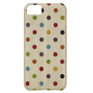 cute rainbow polka dot pattern iPhone 5C case