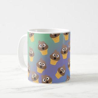 Cute Rainbow Poop Emoji Ice Cream Cone Pattern Coffee Mug